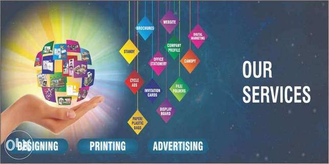 Complete Solution For Designing, Printing & Advertising.