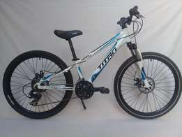 21 speed, Titan Hades 24D mountain bicycle with disk brakes