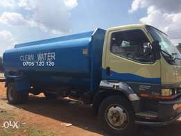Clean Water Delivery. 5K and 10K Litres