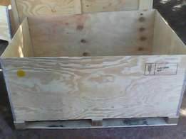 Big wooden chest crates for sale