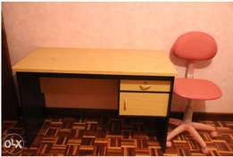 2FT X 4FT STUDY DESK with DRAWERS and height adjustable CHAIR for SALE