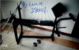 Bench and stand for weights