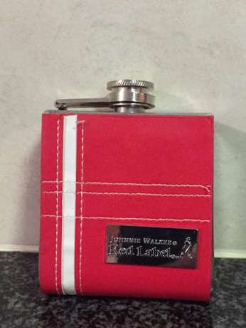 Johnny Walker red hip flask Pierre Van Ryneveld - image 1