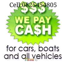 Any type of vehicle wanted