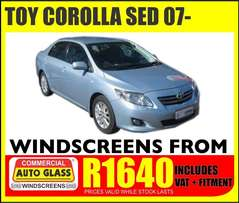 Toy corolla windscreen specials