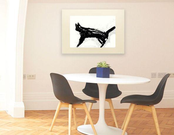 Biało Czarny Plakat Z Kotemnowoczesny Plakat Kot Plakat