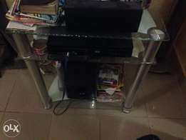 Few month used LG DVD player and sound system with 4 straw speakers
