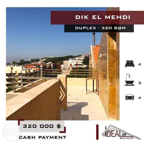 Duplex available in Dik El Mehdi with a view, 320 SQM. REF#MN60019
