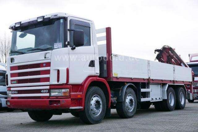 Scania 8x4 G420 Kran Atlas 125.1 A3 Schalter Retarder - 2001