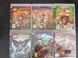 6 x PS3 GAMES - ORIGINALS IN COVERS ideal for kids