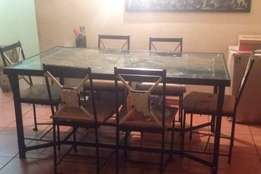 Iron Dining table for 6