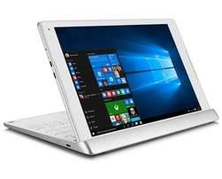 Dit is 'n Alcatel 2-in-1 laptop-tablet hybrid - the PLUS 10 met Window