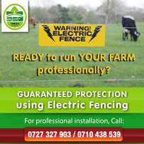 Solar Farm Electric Fencing installation