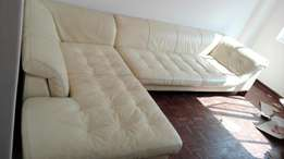 Genuine full leather l shaped imported from France.. Immigrating