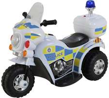 Kids 6V Ride-On battery Powered Electric Police Bike