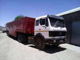 Price Drop: 1988 Mercedes-Benz Truck with Trailer FOR SALE