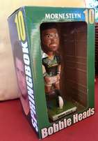 NEW Large Morne Steyn Springbok Bobble Heads Figurine