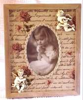 Wooden Photo Frame with Cherubs - 26 x 21 cm