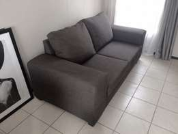 couch 2 seater grey