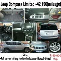 Jeep Compass 2.0 litre cvt Limited