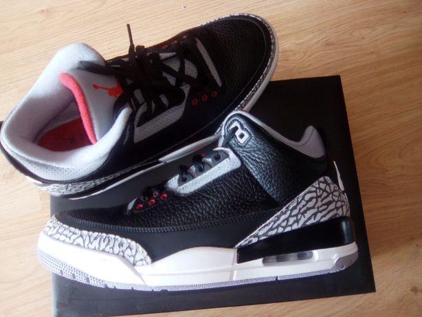 topowe marki pierwsza stawka najlepsza cena NOWE buty Air Jordan 3 Retro Black cement NIKE r. 44 czyli ...