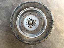 scooter wheel with break disk