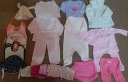 girls 3 to 6 months clothes 35 Items for R400