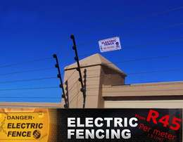 New installed Electric fencing from R45 per meter only in the Vaal.