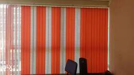 Vertical blinds and curtains