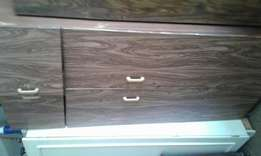 Cheap two door brown wardrobe R650