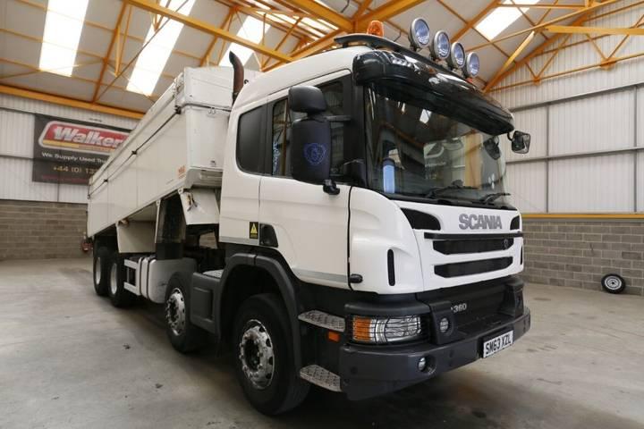 Scania P360 8 X 4 ALUMINIUM INSULATED TIPPER - 2013 - SM63 XZL - 2013