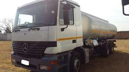 2001 Mercedes Benz 2640 Actros Rigid with 18 000LT Tank