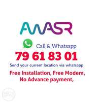Awasr unlimited WiFi connection Available. Apply through whatsapp