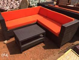 L shape plastic reed seats/ chairs