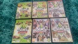 PC – Games – SIMS 3 (Complete Series) at R1500 for full set