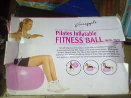 Pilates Inflatable Fitness Ball w/ DVD