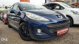 Peugeot 207, Year 2010, (KCP), Dark Blue, 1600cc Petrol, Automatic