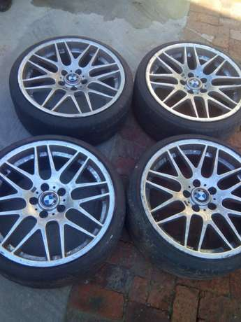 Size 19 bmw original mags with original tyres stil good Bramley - image 2