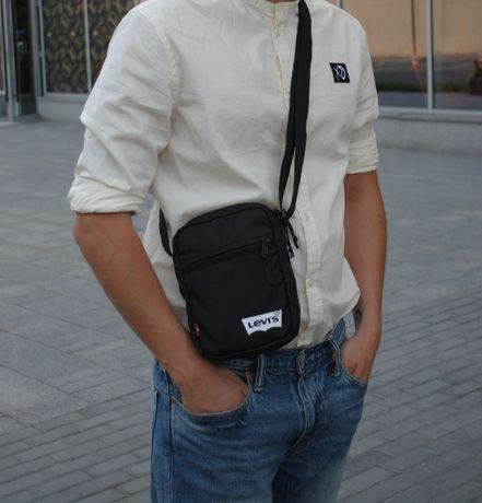 54db9ede3ea1 Черная мужская сумка мессенджер на плечо Levi's, Levis Чоловіча Львов -  изображение 2