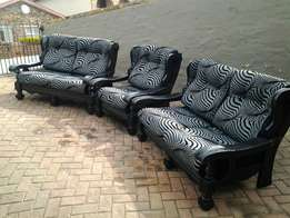 5 seater black grey couches