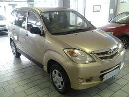 2007 Toyota Avanza 1.3 sx for sell R119 000