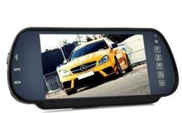 Rear View Mirror Monitor and Multimedia MP4 Player