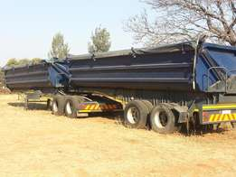 Super Link and flat deck trailers for rent
