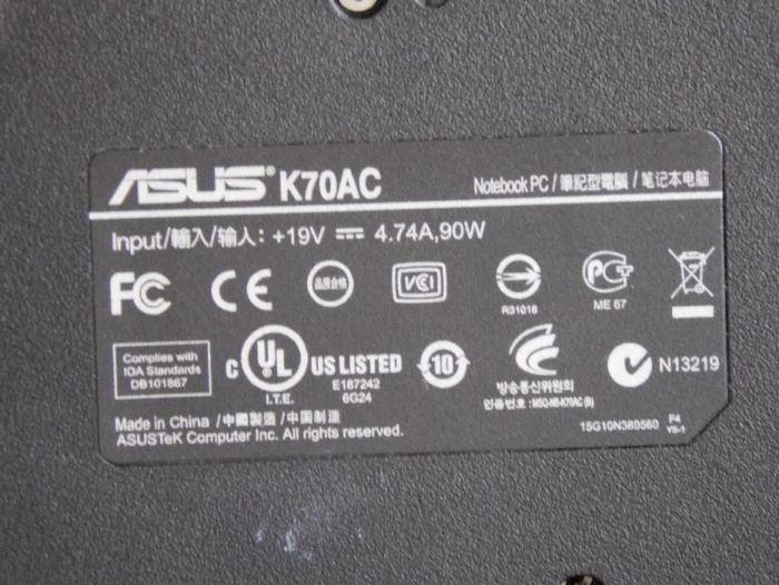 DOWNLOAD DRIVERS: ASUS K70AC