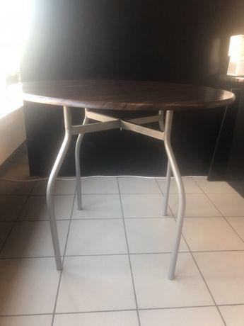 Stół Okrągły 4 Krzesła Do Kuchni Jadalni Lub Taras Wenge