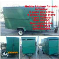 Mobile food kitchen for sale, free gas stove and cylinder.