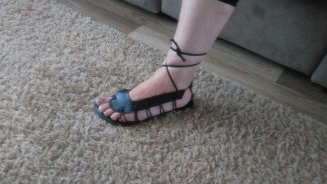 NOWE sandały damskie wiązane, rzymianki rozmiar 36
