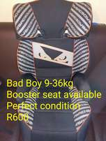 Bad Boy 9-36kg booster seat available