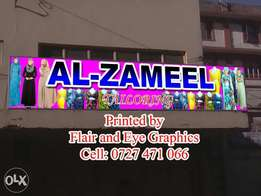 For all outdoor shop displays banners, stickers and many more