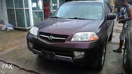 Foreign used acura MDX 04 tin can cleared